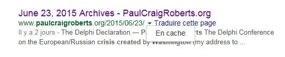 Paul Craig Roberts: « Washington est incapable d'empêcher l'Armageddon » Cache10