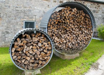 Une meule pour stocker son bois : Stocka10