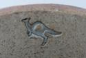 Three mice in a hole - possibly Kelso Pottery - Kangaroo mark? Australian?  B11