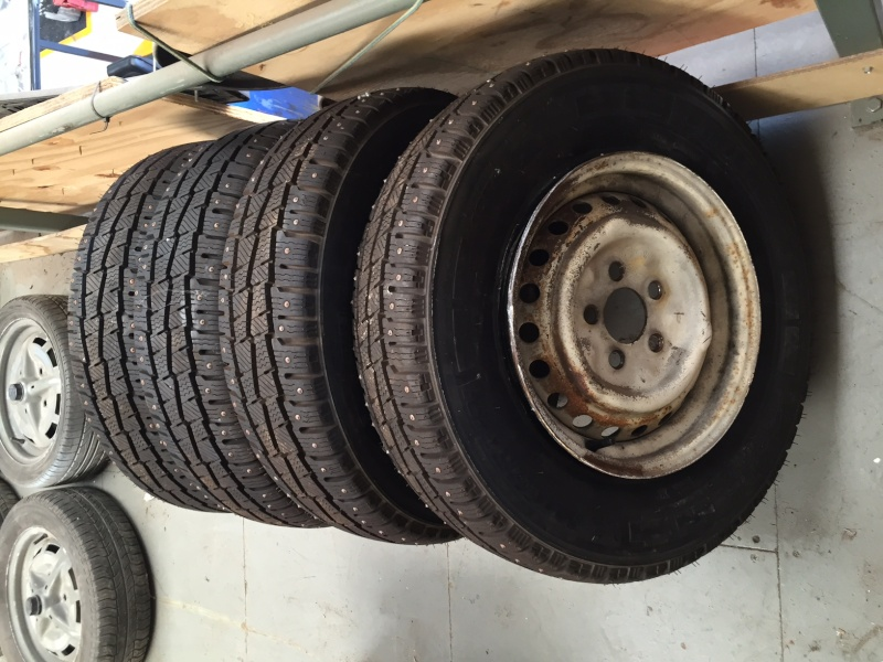 Set of 4 x Michelin studded Snow / Ice tires 185 r14, for Brazilian Camper. £100 Img_2811