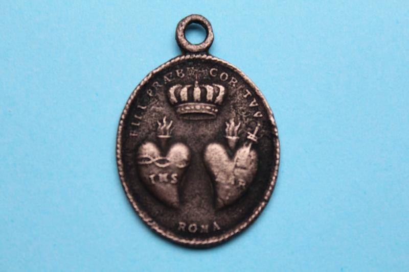Médaille sacré coeur de Jésus et Marie  XVIII -XIXème Img_1010