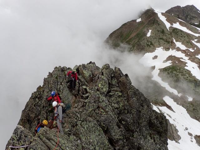 Compte-rendu de la sortie alpinisme Dent de Fenestral et Perrons de Vallorcine P6200016