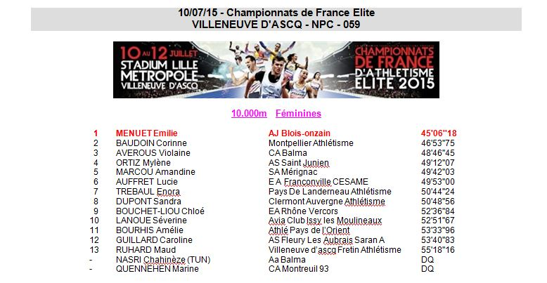 France Elite 10000m 12 Juillet 2015 0_elit10