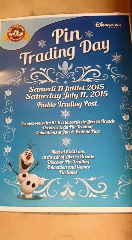 Pin Trading Day Frozen du 11/07/2015 Ptd10