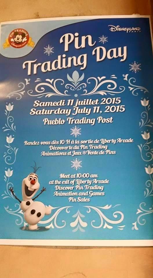Pin Trading Day Frozen du 11/07/2015 Ptd10