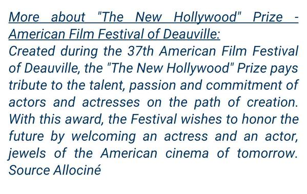 MORE INFO ABOUT 'NEW HOLLYWOOD' AWARD ROB WILL RECIEVE 30510