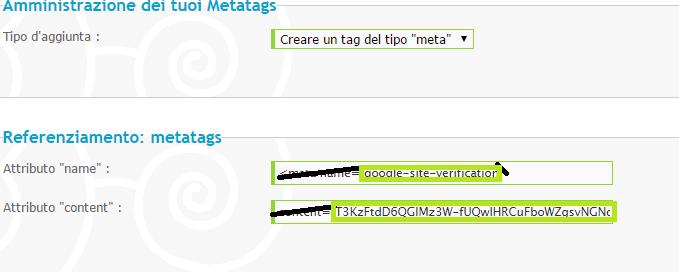 Google, aggiungere il Forum ad esso e verificare metatag Bbb11