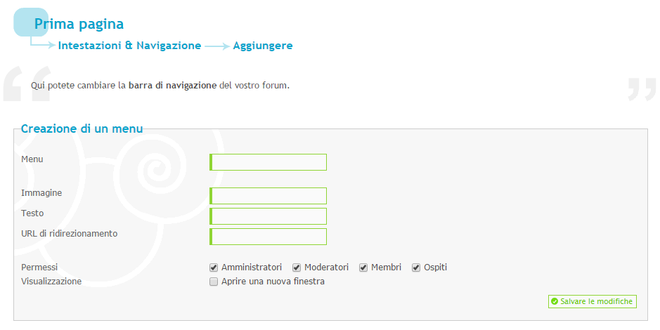 Implementare nel forum Chat99 Gp10
