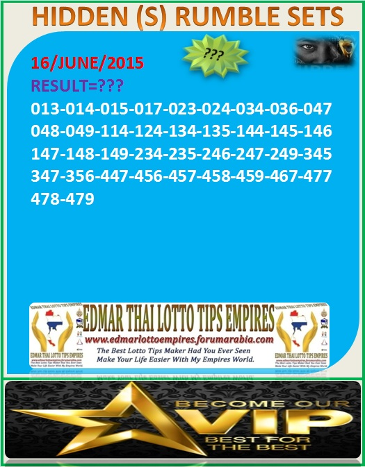 VIP DATA FOR ALL MEMBER BEFORE THE RESULT 16/JUNE/2015 11:00 MORNING (FREE VIEW-UPDATE) Normal10