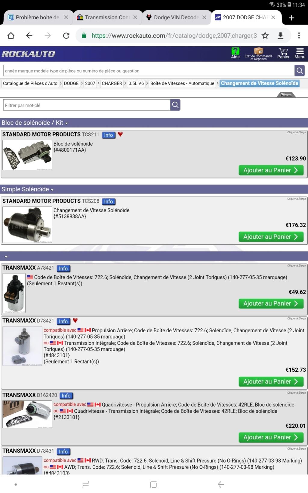 Problème boite de vitesse Dodge Charger 3.5 v6 2007 Screen12