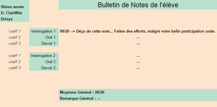 [Elèves] Bulletins de Notes Drinyx10