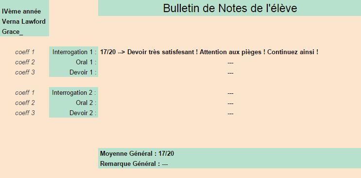 [Elèves] Bulletins de Notes Grace10