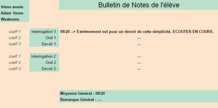 [Elèves] Bulletins de Notes Weakne10