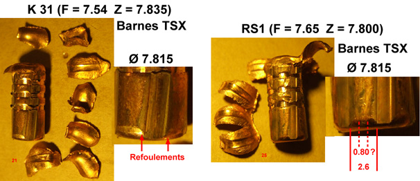 Expérimentation de balles .323 pour Lebel Barnes10