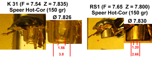 Expérimentation de balles .323 pour Lebel Speer10