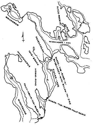 Early Chart of Lake Winnipesaukee Before It Was Dammed... Lakema10