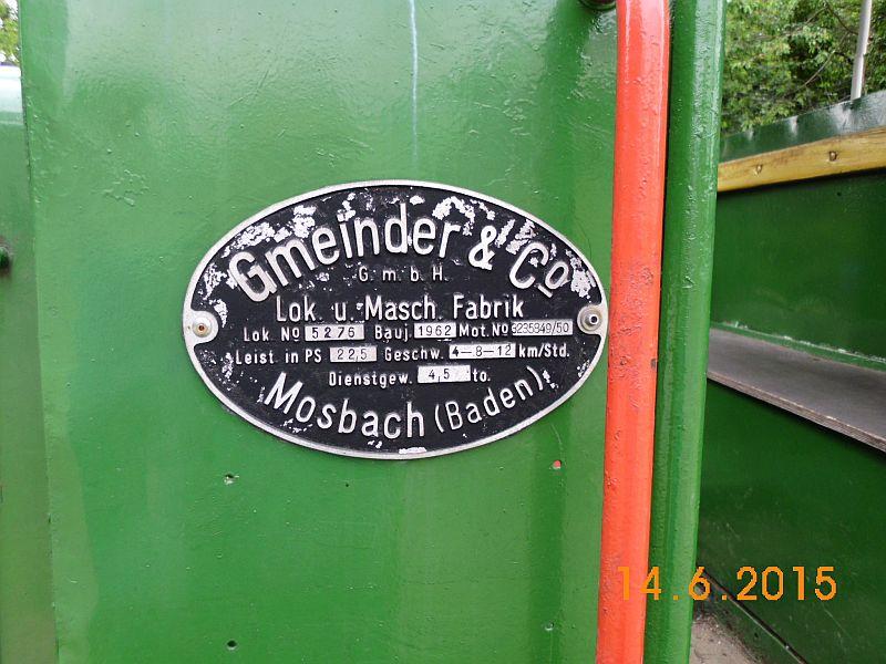 """Gmeinder - Werkslokdenkmal auf der """"Kohlenbahn"""" in Sprockhövel Hasslinghausen 316"""