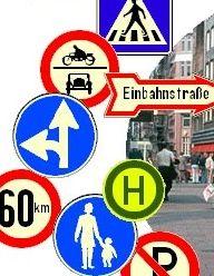 Alte Verkehrszeichen und alte Werbetafeln als kostenlosen Download S110