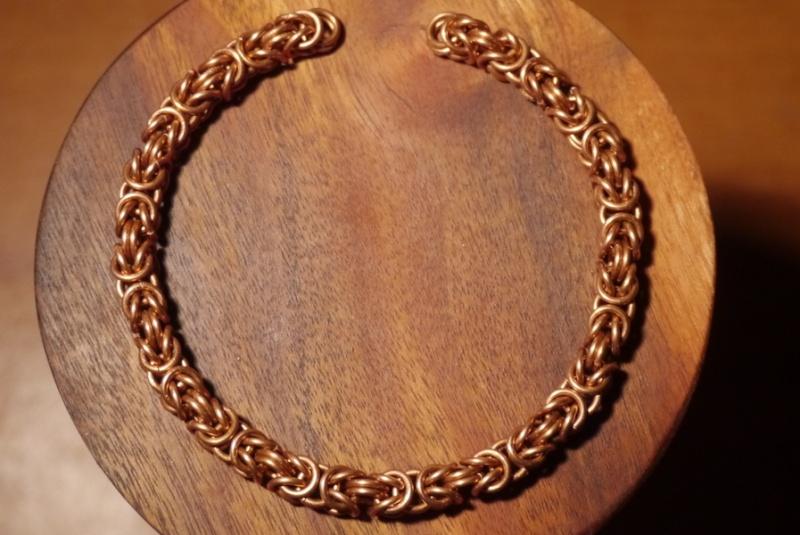 Bracelet maille byzantine-péruvienne-royale P1170614