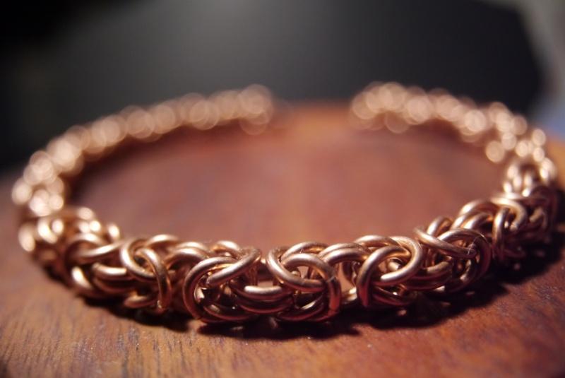 Bracelet maille byzantine-péruvienne-royale P1170615