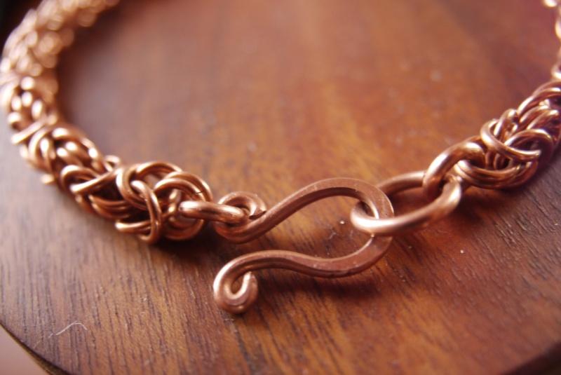 Bracelet maille byzantine-péruvienne-royale P1170621