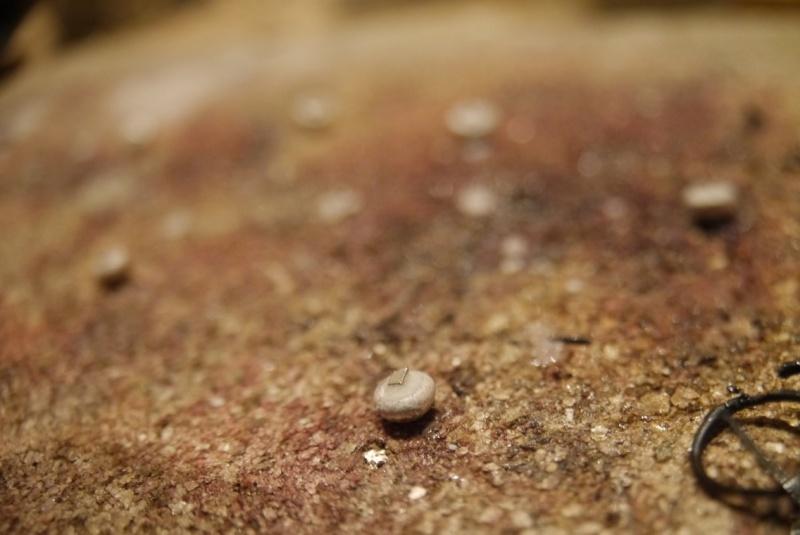 Pendentif améthyste cabochon et demi-sphères d'argent P1180611