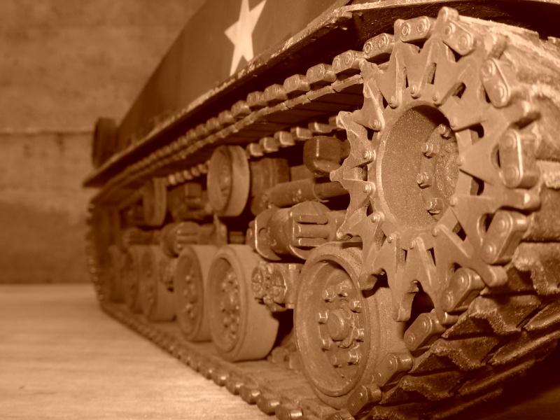 Sherman M4  105 mm Tamiya - Restyling totale Dscn0131
