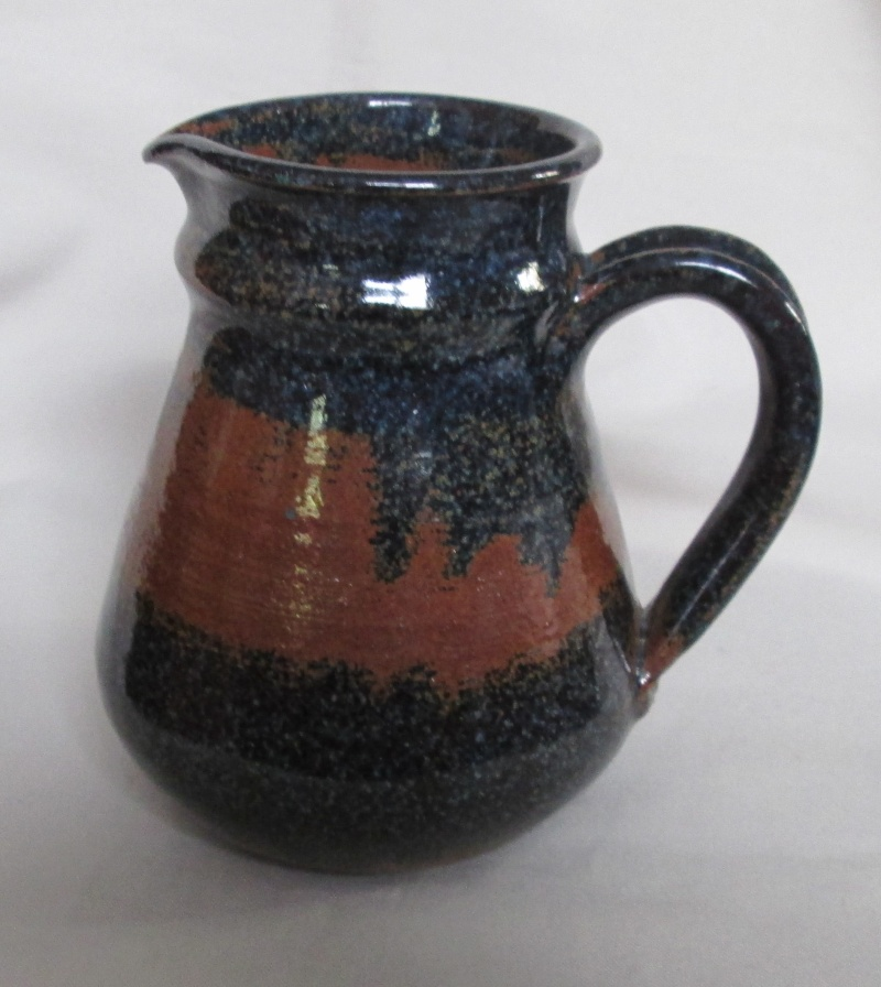 Speckled blue brown Jug Img_2827