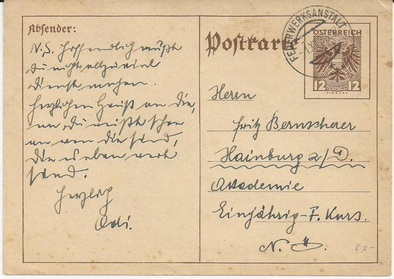 Bedarfspost Ganzsachen Österreich 1925-1938 Bild20