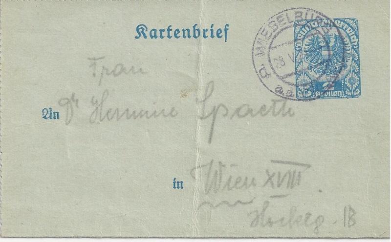 Inflation in Österreich - Belege - 1918 bis 1925 - Seite 5 Bild70