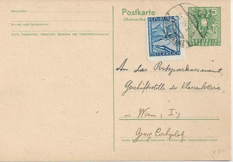 Bedarfspost Ganzsachen Österreich 1945-1947 Bild74