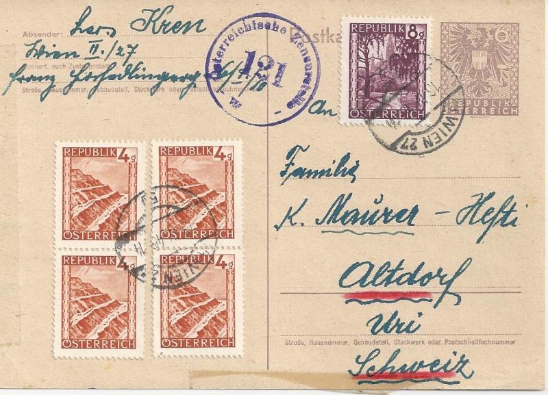 Bedarfspost Ganzsachen Österreich 1945-1947 Bild77