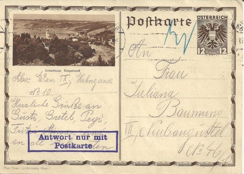 Bedarfspost Ganzsachen Österreich 1925-1938 Bild_110