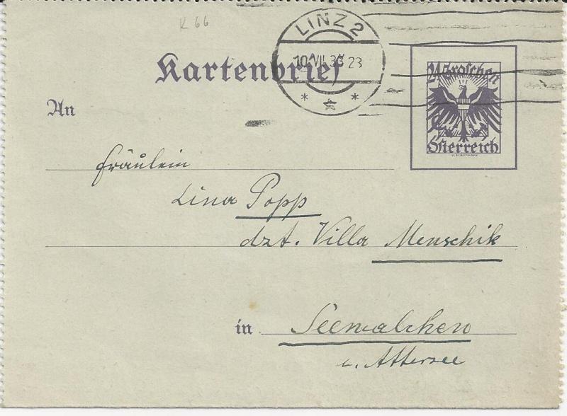 Bedarfspost Ganzsachen Österreich 1925-1938 Bild_118