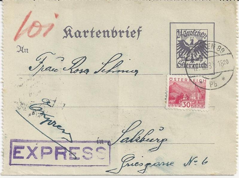 Bedarfspost Ganzsachen Österreich 1925-1938 Bild_119