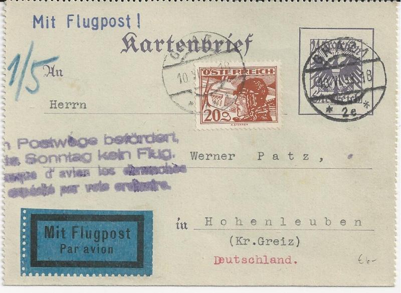 Bedarfspost Ganzsachen Österreich 1925-1938 Bild_121