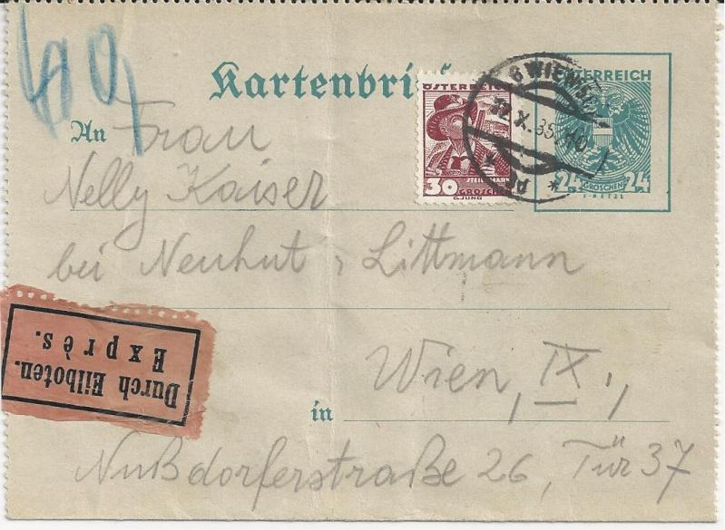 Bedarfspost Ganzsachen Österreich 1925-1938 Bild_122