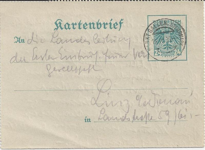 Bedarfspost Ganzsachen Österreich 1925-1938 Bild_123