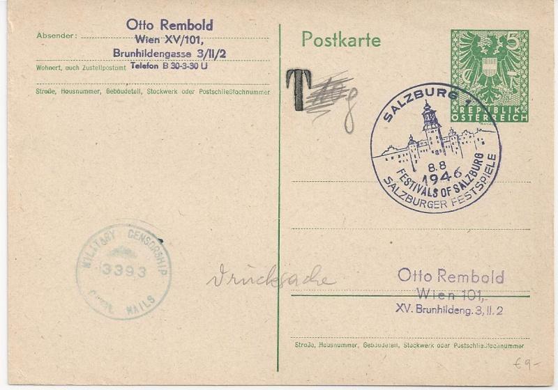 Bedarfspost Ganzsachen Österreich 1945-1947 Bild_146