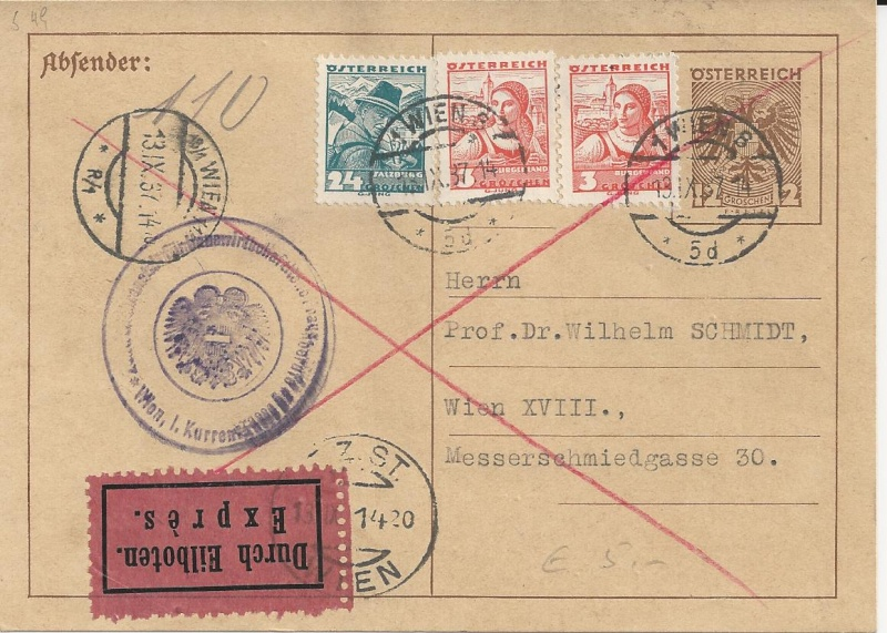Bedarfspost Ganzsachen Österreich 1925-1938 Bild_220