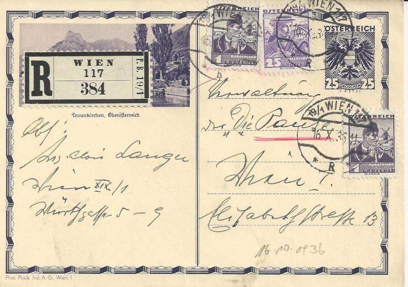 Bedarfspost Ganzsachen Österreich 1925-1938 Bild_222