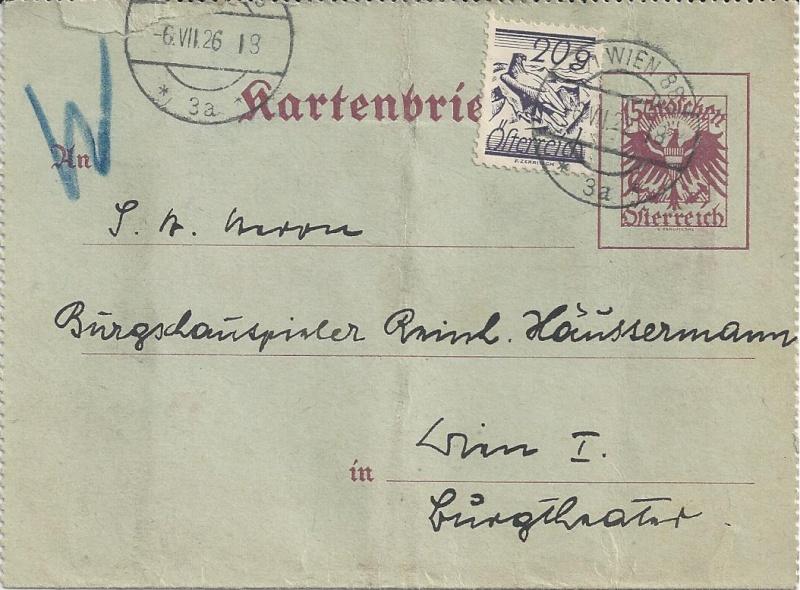 Bedarfspost Ganzsachen Österreich 1925-1938 Bild_223