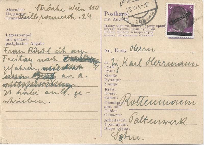 Bedarfspost Ganzsachen Österreich 1945-1947 Bild_245