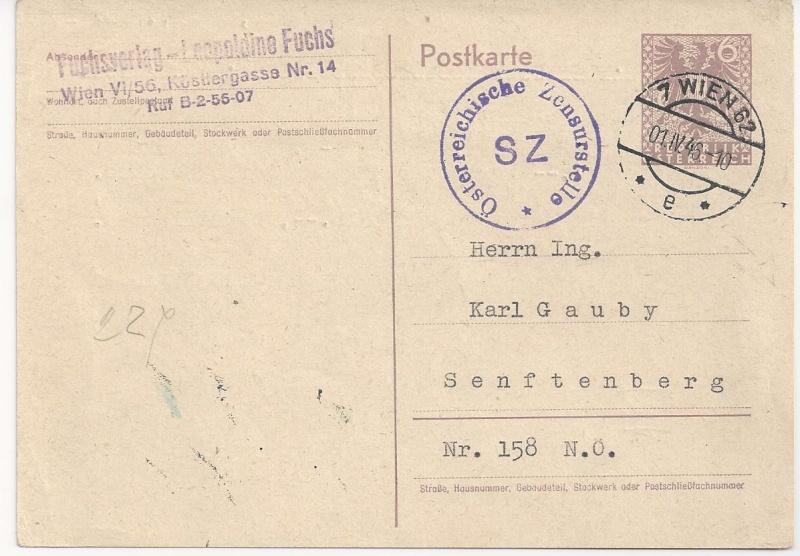 Bedarfspost Ganzsachen Österreich 1945-1947 Bild_260