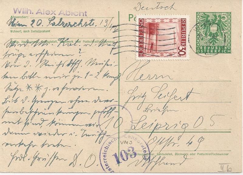 Bedarfspost Ganzsachen Österreich 1945-1947 Bild_264