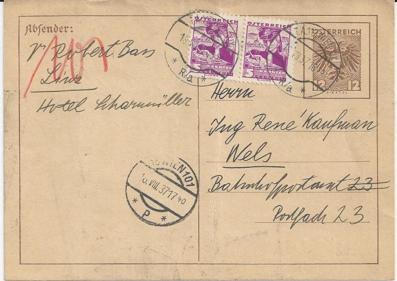 Bedarfspost Ganzsachen Österreich 1925-1938 Bild_317