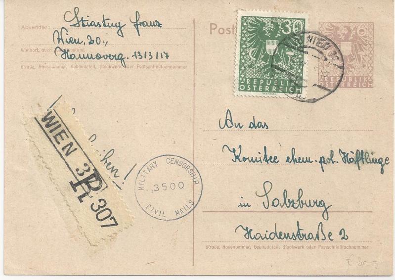 Bedarfspost Ganzsachen Österreich 1945-1947 Bild_345