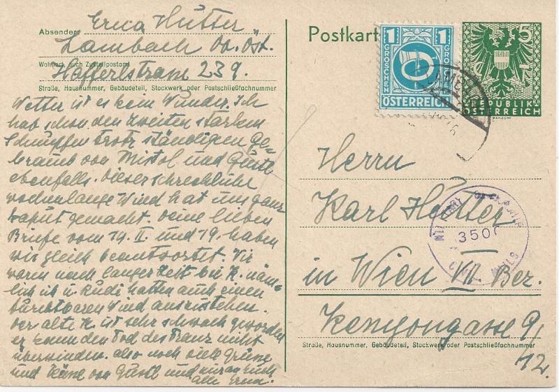 Bedarfspost Ganzsachen Österreich 1945-1947 Bild_346