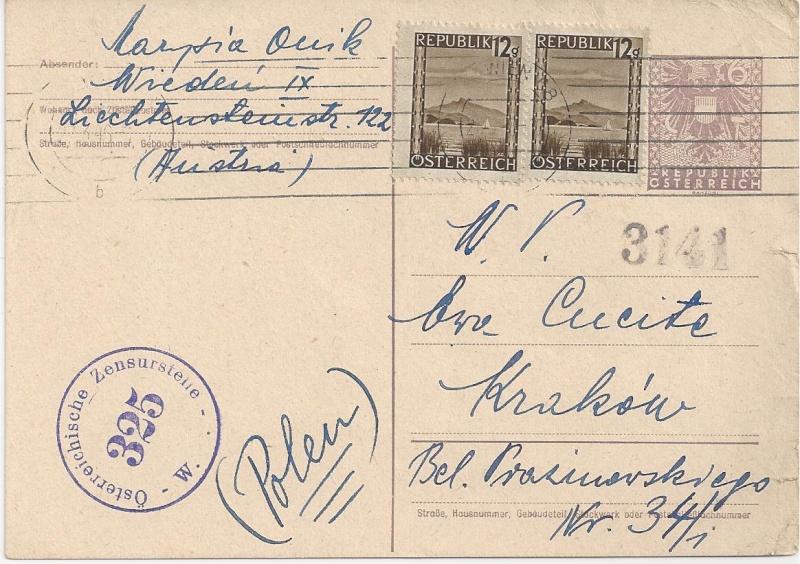 Bedarfspost Ganzsachen Österreich 1945-1947 Bild_348