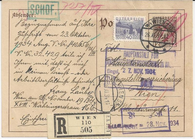 Bedarfspost Ganzsachen Österreich 1925-1938 Bild_415